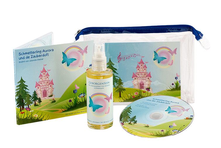 Kinderset - Bio Aromaspray Geborgensein mit Märchen-CD